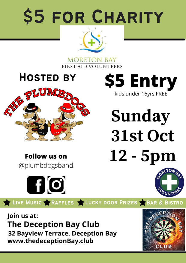 $5 For Charity - Moreton Bay First Aid Volunteers